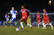 Gillingham's Myles Weston © makes a break. NPower league two match, Bristol Rovers v Gillingham at the Memorial stadium in Bristol on Saturday 5th Jan 2013. pic by Andrew Orchard, Andrew Orchard sports photography,