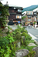 """Hakone Taki-Dori or """"Waterfall Street"""" is the main drag of hot spring spa resorts in Hakone, for which the town is famous besides its access to hiking, boating and Mt Fuji views."""