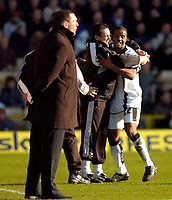 Photo: Alan Crowhurst.<br />Watford v Derby County. Coca Cola Championship. 04/03/2006. Kevin Lisbie (R) celebrates with Derby manager Terry Westley after scoring.