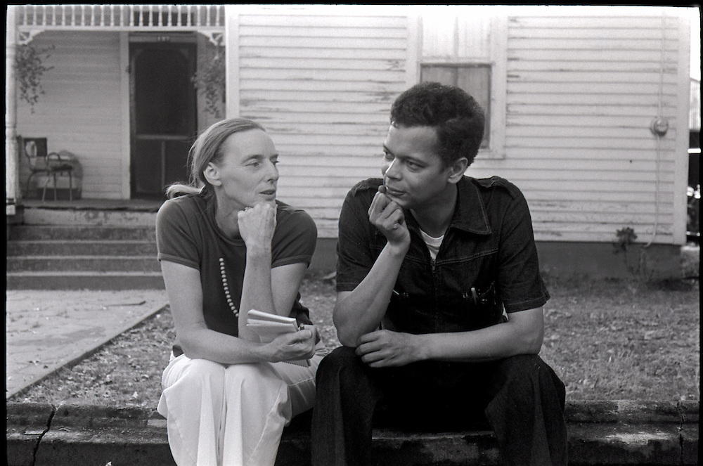 """Civil rights leader, politician, actor and former Chairman of the NAACP, Julian Bond, has died at age 75. Bond talks with People Magazine writer  Joyce Leviton during the filming of the 1977 feature film, """"Greased Lightning"""".  The film starred Grier, Richard Pryor and Beau Bridges and chronicled the life of the first African American NASCAR driver - Wendell Scott."""