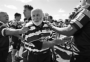 SYDNEY, AUSTRALIA - OCTOBER 13:  Bruce Gallagher, the oldest rugby union competitor at age 75 is clapped off at full time during the rugby union at the Sydney 2009 World Masters Games at T.G. Millner Field on October 13, 2009 in Sydney, Australia.  (Photo by Craig Golding/Getty Images)