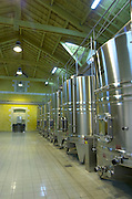 Fermentation tanks. Chateau Petit Faurie de Soutard, Saint Emilion, Bordeaux, France