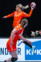 Angela Malestein of Netherlands in action during the Women's EHF Euro 2020 match between Netherlands and Germany at Sydbank Arena on december 14, 2020 in Kolding, Denmark (Photo by RHF Agency/Ronald Hoogendoorn)