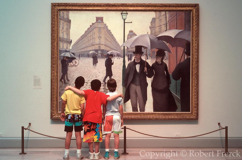 CHICAGO, ART INSTITUTE Caillebotte's 'Paris A Rainy Day'