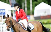 Hest sprang løp , <br /> Norway Grand Prix 2008 , <br /> Drammen Internasjonalt stevne , <br /> 21.06.08 , <br /> Christine K Raaholt rir på hesten High Spirit , <br /> Foto: Thomas Andersen / Digitalsport