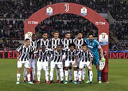 May 9, 2018 - Rome, Italy - Juventus team during the final of Tim Cup match between Juventus v Milan, in Rome, on May 9, 2018  (Credit Image: © Loris Roselli/NurPhoto via ZUMA Press)