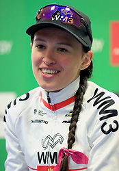 WM3 Pro Cycling's Katarzyna Niewiadoma stage winner during the Women's Tour of Britain from Daventry to Kettering. PRESS ASSOCIATION Photo. Picture date: Wednesday June 7, 2017. See PA story CYCLING Womens Tour. Photo credit should read: Nigel French/PA Wire