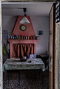 ITALY, Franciacorta area, Iseo Lake,  Monteisola, Santuario della Madonna della Ceriola, the local bar
