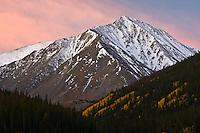 14,267 Ft. Torreys Peak of the Front Range Mountains at sunrise.  Colorado, USA