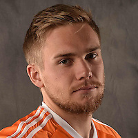 Feb 25, 2016; USA; Houston Dynamo player Zach Steinberger poses for a photo. Mandatory Credit: USA TODAY Sports
