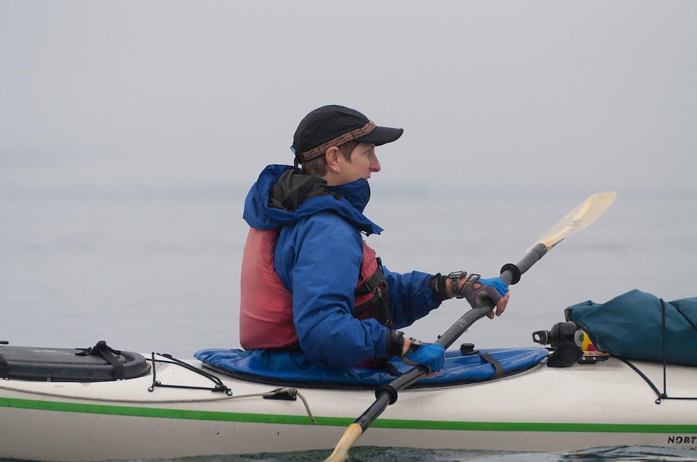 Sarah Paddles, San Juan Islands, Washington, US