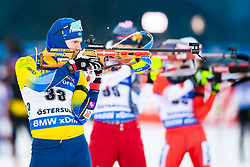 March 9, 2019 - –Stersund, Sweden - 190309  Sebastian Samuelsson of Sweden during warm up ahead of the Men's 10 KM sprint during the IBU World Championships Biathlon on March 9, 2019 in Östersund..Photo: Petter Arvidson / BILDBYRÃ…N / kod PA / 92252 (Credit Image: © Petter Arvidson/Bildbyran via ZUMA Press)