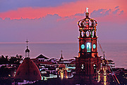 MEXICO, TOURISM Puerto Vallarta; Church belltower