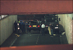 File photo taken on August 31, 1997 - Princess Diana and Dodi Al Fayed's crashed Mercedes under Alma tunnel in Paris, they both died in the accident along with driver Henri Paul. Princess Diana died on August 31 1997 after suffering fatal injures in a car crash in the Pont de l'Alma road tunnel in Paris. Her companion Dodi Fayed and driver and security guard Henri Paul were also killed in the crash. Photo by ABACAPRESS.COM
