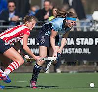 LAREN - Grace Huberts  van Laren tijdens de hoofdklasse competitiewedstrijd  hockey tussen de vrouwen van Laren en HDM. COPYRIGHT KOEN SUYK