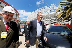 O secretário geral da FIFA, Jerome Valcke durante visita as obras de reforma do estádio Beira Rio em 07 de outubro de 2013. O Estádio Beira Rio, que receberá jogos da Copa do Mundo de Futebol 2014, tem sua re-inauguração agendada para 04 de abril de 2014. FOTO: Jefferson Bernardes/ Agência Preview