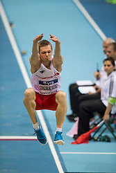 07.03.2014, Ergo Arena, Sopot, POL, IAAF, Leichtathletik Indoor WM, Sopot 2014, Tag 1, im Bild ADRIAN STRZALKOWSKI // ADRIAN STRZALKOWSKI during day one of IAAF World Indoor Championships Sopot 2014 at the Ergo Arena in Sopot, Poland on 2014/03/07. EXPA Pictures © 2014, PhotoCredit: EXPA/ Newspix/ Radoslaw Jozwiak<br /> <br /> *****ATTENTION - for AUT, SLO, CRO, SRB, BIH, MAZ, TUR, SUI, SWE only*****
