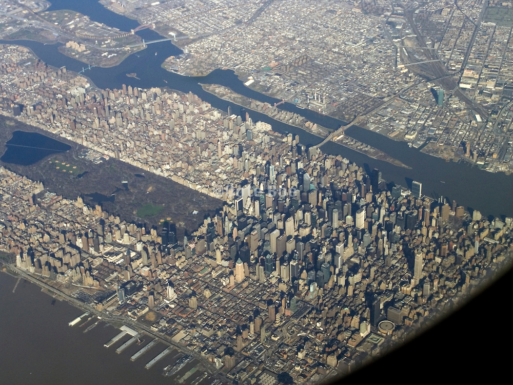 New York City and Queens seen from the air