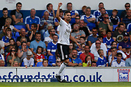 Fulham striker Rui Fonte (9) and celebrates Ipswich Town and Fulham at Portman Road, Ipswich, England on 26 August 2017. Photo by Phil Chaplin.