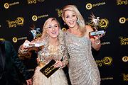 Gouden Televizier-Ring Gala 2019 in het AFAS Live, Amsterdam.<br /> <br /> Op de foto:  Chantal Janzen won de Televizier-Ster voor de beste presentatrice en Televizier-Ster Jeugd Zappsport met Britt Dekker