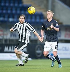Fraserburgh's Russell McBride and Falkirk's Craig Sibbald. <br /> Half time ; Falkirk 1 v 0 Fraserburgh, Scottish Cup third round, played 28/11/2015 at The Falkirk Stadium.