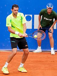 Marin Cilic of Croatia during a tennis match against the Tommy Robredo of Espana in semi-final of singles at 25th Vegeta Croatia Open Umag, on July 27, 2014, in Stella Maris, Umag, Croatia. Photo by Urban Urbanc / Sportida