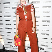 Black honey - Izzy Bee Philips attend the Fashion Scout - SS19 - London Fashion Week - Day 1, London, UK. 14 September 2018.
