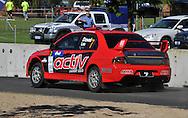 Justin DOWEL & Matt LEE .Mitsubishi  Lancer Evo IX.Motorsport-Rally/2009 Forest Rally .Shakedown .3rd of April 2009.Busselton Foreshore, Busselton, Western Australia.(C) Joel Strickland Photographics