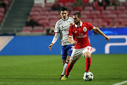 December 5, 2017 - Lisbon, Portugal - Benfica's Serbian midfielder Andrija Zivkovic (R ) vies with Basel's midfielder Raoul Petretta from Italy during the UEFA Champions League Group A football match between SL Benfica and FC Basel at the Luz stadium in Lisbon, Portugal on December 5, 2017. Photo: Pedro Fiuza (Credit Image: © Pedro Fiuza via ZUMA Wire)