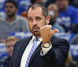 October 18, 2017 - Orlando, FL, USA - Orlando Magic head coach Frank Vogel on the sidelines against the Miami Heat at the Amway Center in Orlando, Fla., on Wednesday, Oct. 18, 2017. The Magic won, 116-109. (Credit Image: © Stephen M. Dowell/TNS via ZUMA Wire)