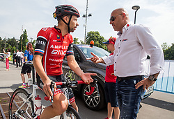 Matej Mugerli (SLO) of Amplatz - BMC and Milan Erzen during Stage 2 of 24th Tour of Slovenia 2017 / Tour de Slovenie from Ljubljana to Ljubljana (169,9 km) cycling race on June 16, 2017 in Slovenia. Photo by Vid Ponikvar / Sportida