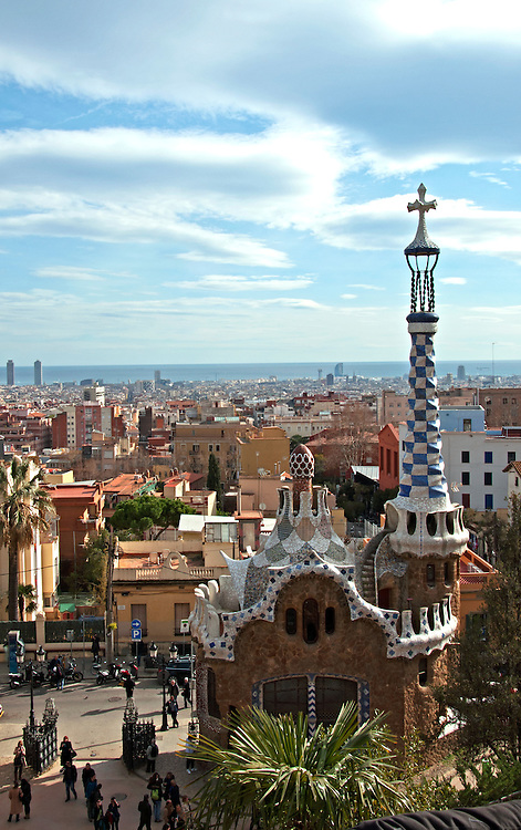 View from Park Guell, Barcelona.
