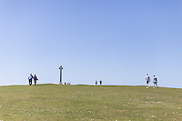 Walkers on Tennyson Down, Isle of Wight