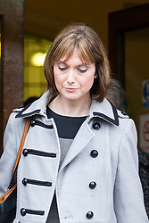 © Licensed to London News Pictures. 15/11/2017. Wakefield, UK. Corpus Christi Catholic school teacher Sinead Miley leaves the Ann Maguire inquest at Wakefield Coroners Court today. Mrs Maguire, a 61 year old Spanish teacher, was stabbed to death by Will Cornick at Corpus Christi Catholic College in Leeds in April 2014. The school pupil, who was 15 at the time, admitted murdering Mrs Maguire and was given a life sentence later that year. Since then, some of Mrs Maguire's family have campaigned for further investigation into her death as they believe more could have been done to prevent the tragedy. Photo credit: Andrew McCaren/LNP