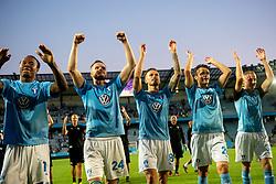 August 1, 2018 - MalmÃÂ, Sverige - 180801 Players of Malmö FF celebrates after the UEFA Champions League qualifying match between Malmö FF and Cluj on August 1, 2018 in Malmö..Photo: Ludvig Thunman / BILDBYRÃ…N / kod LT / 35511 (Credit Image: © Ludvig Thunman/Bildbyran via ZUMA Press)