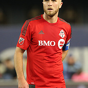 NEW YORK, NEW YORK - November 06: Michael Bradley #4 of Toronto FC in action during the NYCFC Vs Toronto FC MLS playoff game at Yankee Stadium on November 06, 2016 in New York City. (Photo by Tim Clayton/Corbis via Getty Images)