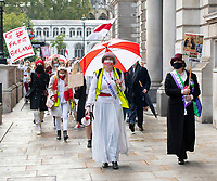 THE MARCH OF THE WOMEN: BELARUSIAN WOMEN FOLLOW IN THE FOOTSTEPS OF THE SUFFRAGETTES 10th oct 2020 photo Brian Jordan