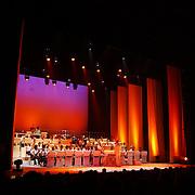 Premiere Songfestival in Concert,.toneel, band, licht, verlichting, orkest, toneel,