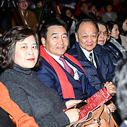 Chinese delegate Ren Guang Fen attend the 2020 China-Britain Chinese New Year Extravaganza with 200 performers from over 20 art groups from both China and the UK showcase at Logan Hall on 18th January 2020, London, UK.