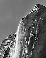 Horsetail Fall. Yosemite Valley in the Winter. Yosemite National Park. Image taken with a Nikon D3x camera and 70-200 mm f/2.8 lens.