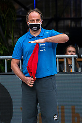 Line judge in action during the last day of the beach volleyball event King of the Court at Jaarbeursplein on September 12, 2020 in Utrecht.