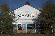 Closed factory building, Crane Fluid Systems, Ipswich, Suffolk, England