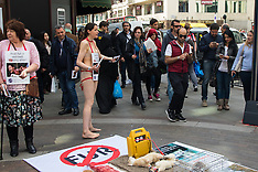 "2015-04-25 ""Naked"" anti-fur trade protest outside Harrods"