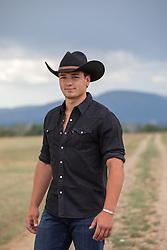 cowboy on a dirt road