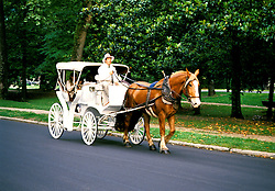 Arkansas: Hot Springs.  Carriage ride in Hot Springs Natl Park.  Model released.  Photo #: arkans104..Photo copyright Lee Foster, 510/549-2202, lee@fostertravel.com, www.fostertravel.com