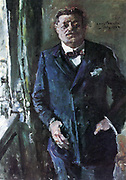 Friedrich Ebert (1871– 925)  German politician (SPD). Served as Chancellor of Germany and its first President during the Weimar period. Painted by Lovis Corinth (1858-1925), 1924.