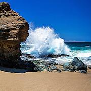 Waves Crashing on the Beach in Laguna Beach California