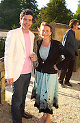 Elliot Macdonald and  Anne de Charmant. Mollie Dent-Brocklehurst and Vanity Fair host  the opening of 'Vertigo'  a mixed art exhibition at Sudeley Castle. Winchombe, Gloucestershire. 18 June 2005. ONE TIME USE ONLY - DO NOT ARCHIVE  © Copyright Photograph by Dafydd Jones 66 Stockwell Park Rd. London SW9 0DA Tel 020 7733 0108 www.dafjones.com