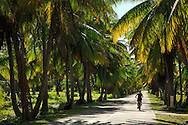 Calles de Tuherahera en Tikehau, Archipiélago Tuamotu, Polinesia Francesa