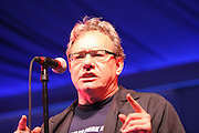 Lewis Black performs during the first day of the 2007 Bonnaroo Music & Arts Festival on June 14, 2006 in Manchester, Tennessee. The four-day music festival features a variety of musical acts, arts and comedians..Photo by Bryan Rinnert.